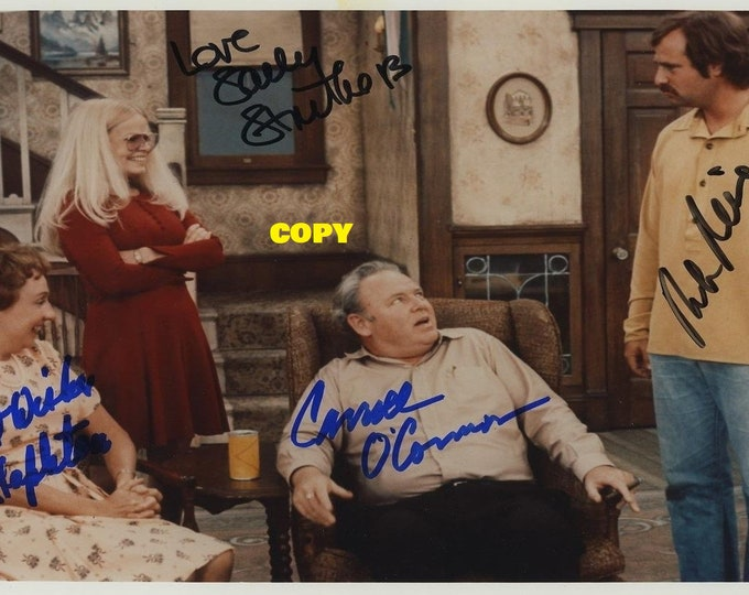 All In The Family TV show family sitcom 1970's 4 cast members signed reprint photo poster autograph RP
