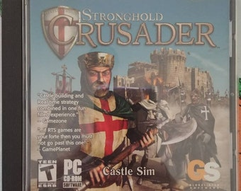 Stronghold Crusader Castle Sim PC video game CD-ROM software Global Star Software computer game 2000's