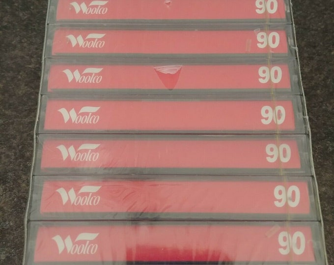 Rare vintage old NEW stock Woolco Canada 10 pack Audio Cassettes 90 minutes 1990's recordable tapes