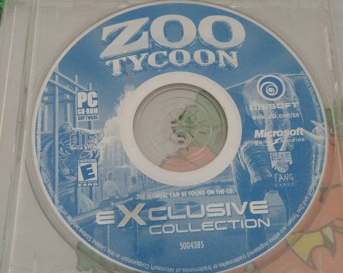 Zoo Tycoon PC video game CD-ROM software Microsoft Game Studios Ubisoft computer game 2000's Exclusive Collection