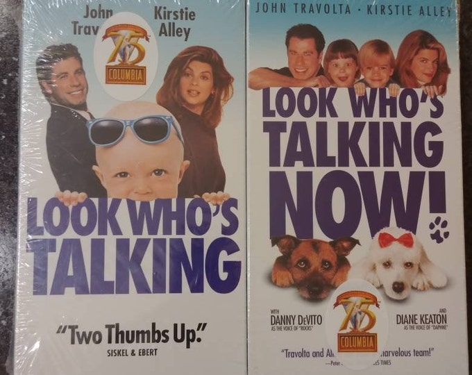 Very rare Look Who's Talking and Look Who's Talking Now double pack VHS tapes sealed new 1999 2 pack VHS Columbia Pictures 75th Anniversary