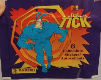 Rare vintage The Tick Panini sticker pack NEW SEALED 6 stickers in pack for the album 1 pack