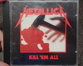 Rare Metallica Kill 'Em All CD Elektra Mega Force 1983 10 track first release CD NOT 1988 re-release Canadian version Kill em All