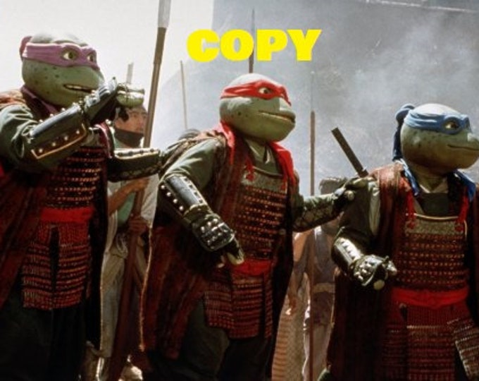 Vintage TMNT Teenage Mutant Ninja Turtles 3 movie 1993 picture scene still photo RP 4x6 you pick photo