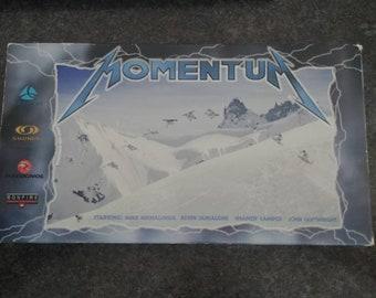 RARE Momentum Snowboarding VHS tape 1999 freestyle freeriding technical Transworld Snowboarding film by Jorli Ricker