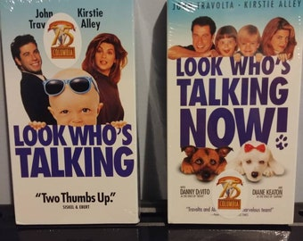 Look Who's Talking and Look Who's Talking Now VHS tapes sealed new 1999 VHS Columbia Pictures 75th Anniversary