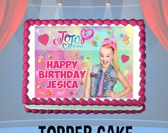 Jojo Siwa Cake Topper Decoration Birthday