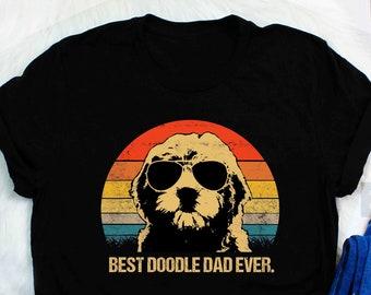 f09e3ed2 Mens Vintage Goldendoodle Dad T-Shirt - Best Doodle Dad Ever vintage style  Funny Best Doodle Dad Ever Vintage T-Shirt Gifts