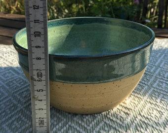 Bowl Salad Bowl Pottery Ceramic Turquoise Green Turquoise Muesli Bowl