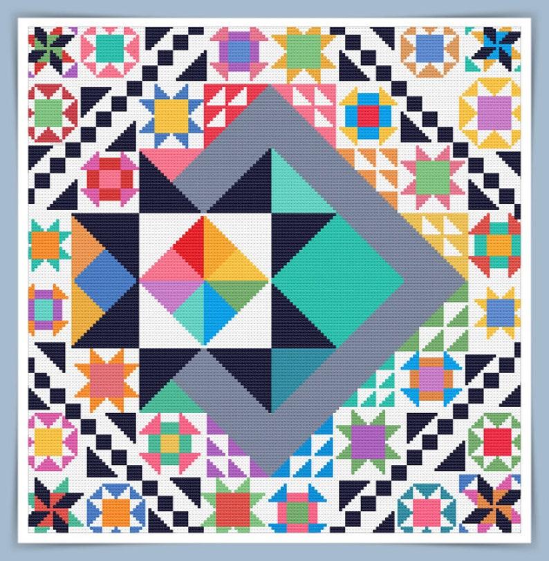 Corss Stitch Quilt 16 image 0