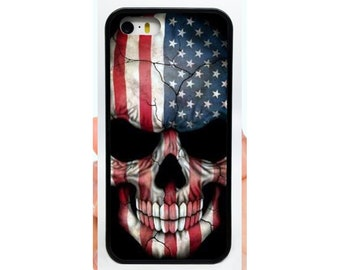916733dc26e Flag Skull Phone Case Cover for Apple iPhone Samsung Galaxy S   Note