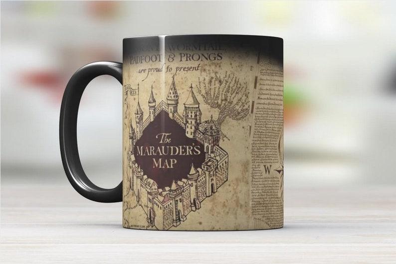 a8f10b73630 H Potter-Marauders-Map Color Changing Mug | Etsy