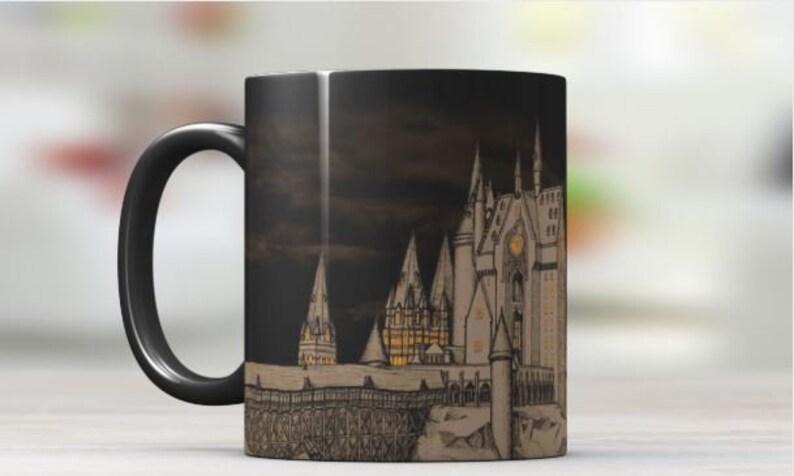 8291584f206 Harry Potter Inspired Castle Color Changing Mug | Etsy
