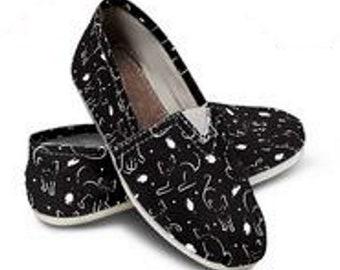 c66c95b1714 Black Cat Women s Casual Slip-on Shoes