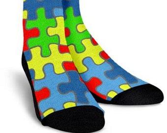 d964b56a9230 Autism Awareness, Camouflage, Crew Socks-Custom Socks, Gift Socks, Custom  Printed Socks, Funny Socks, Novelty, Boot Socks, Mens Socks, Socks