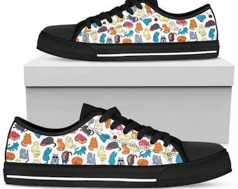 b6b87b852443 Multi-color Cat Women s Low Top Shoe