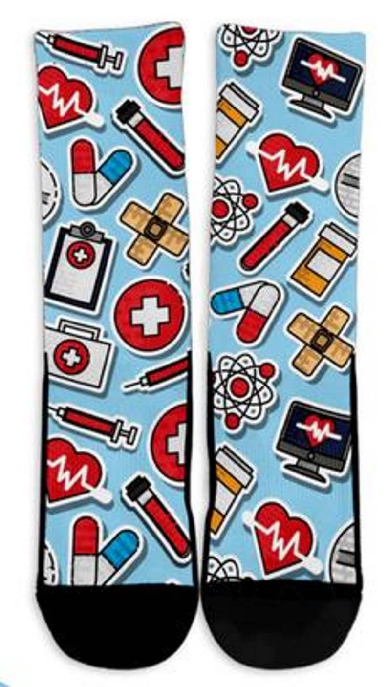 Mens Sock Custom Printed Socks Cool Socks Crew Socks Womens Socks Crazy Socks Nursing Socks Personalized Socks Socks Animal Prints