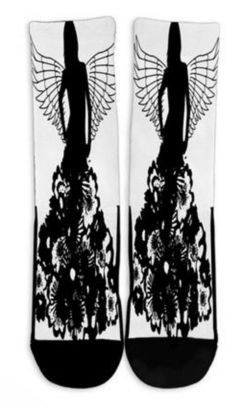 Cool Socks Socks Mens Sock Fun Socks Salsa Angel Womens Socks Personalized Socks Novelty Socks Custom Printed Socks Crew Socks