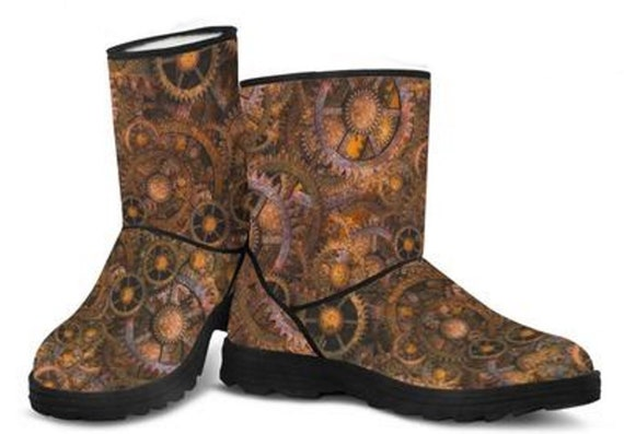 Ladies Faux Fur Boots Steampunk Boots For Womens Perfect  ec2715487d
