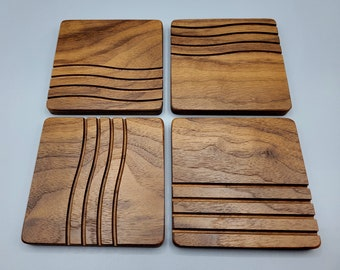 Fifth Element-inspired coasters (Walnut)