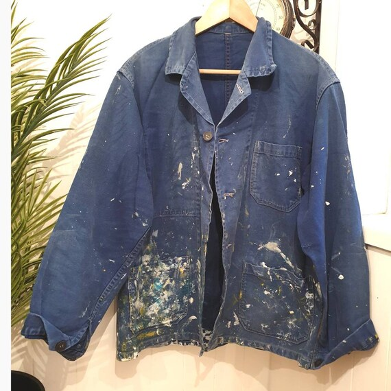 Vintage chore jacket, Au Molinel vintage 1950s Fre