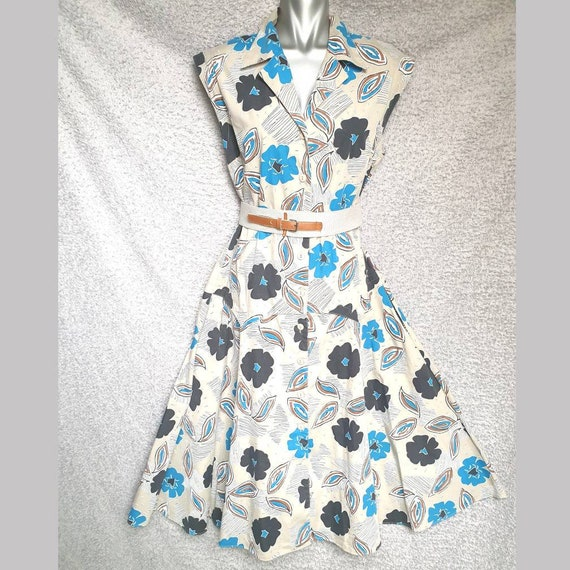 Vintage dress, fit and flate, 1980s BHS tea dress