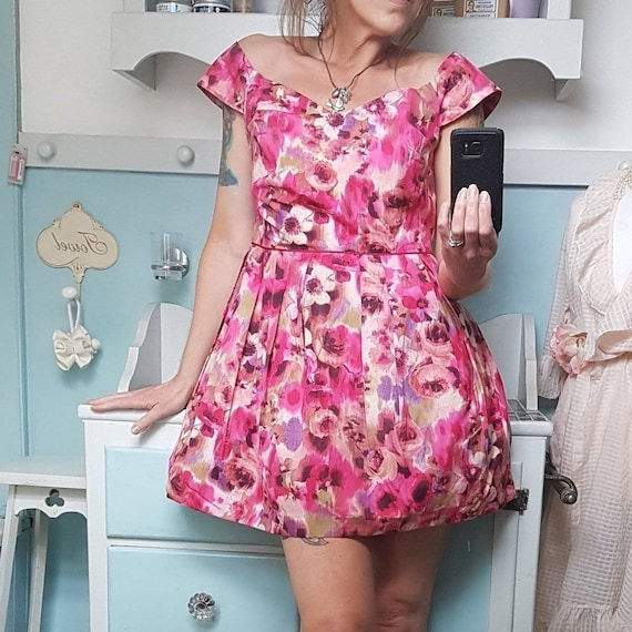 50s style floral dress by Monsoon in pink