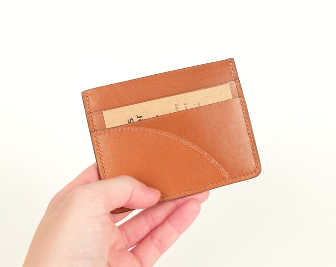 Cognac leather - Eden Prairie - 3 compartments card holder