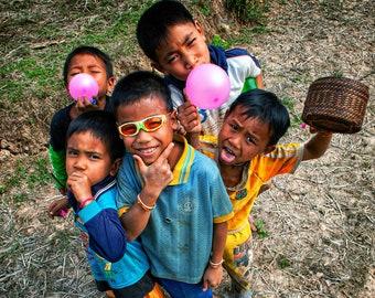 Children's motifs from Laos