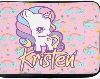 Personalized Computer Laptop Case Unicorn Embroidery Design with Your Name Perfect Mom Dad Gift