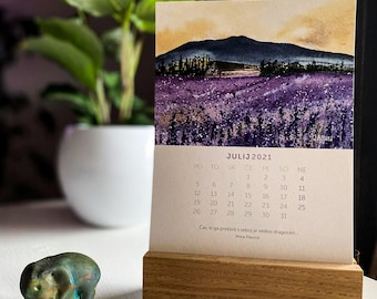 CALENDAR 2021, from wonderful and unique watercolour illustrations, JAmuna, Desk Calendar,Cute Wall Hanging,gift newyear christmass