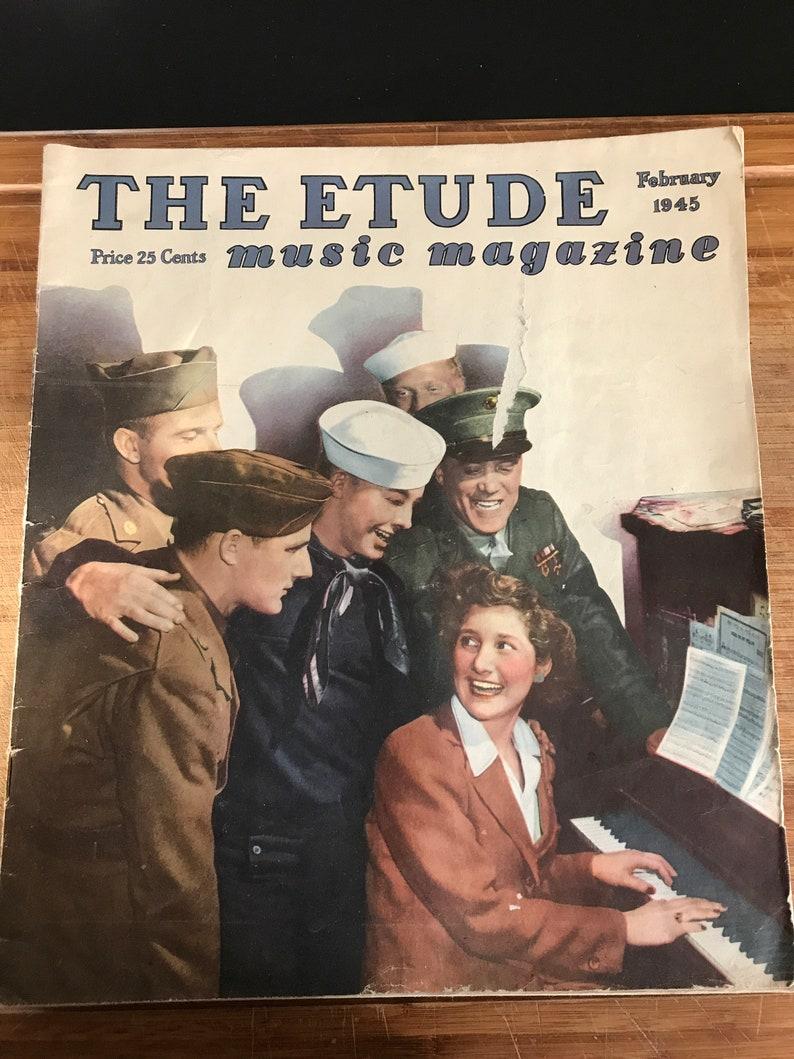 1945 The Etude music magazine