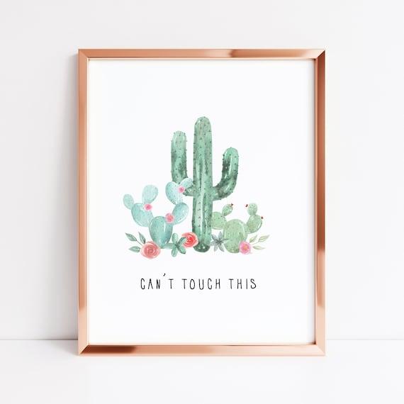 Minimalist Prints,UNFRAMED Don/'t be a prick Cactus A4 Print Wall Art Prints