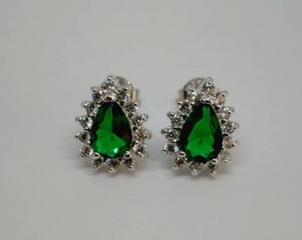 f265d22d0bd6 Sterling silver and CZ earrings studs.