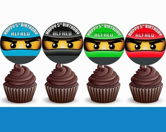 Ninjago Cupcake Toppers Birthday Printable