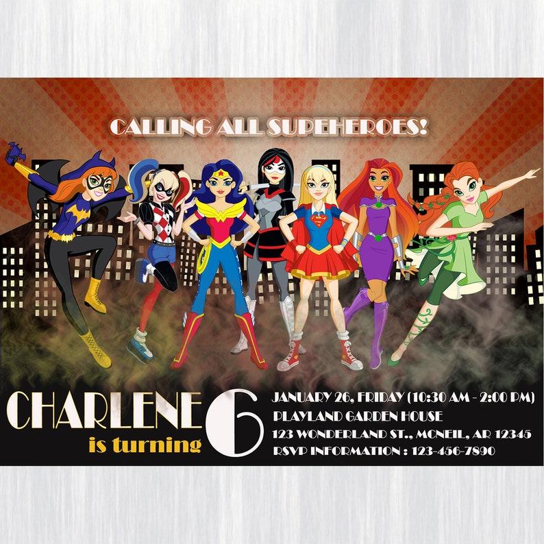 DC Superhero Girls Birthday Invitation