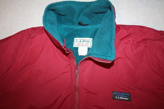 Vintage Ll Bean Warm Up Jacket Fleece Lined