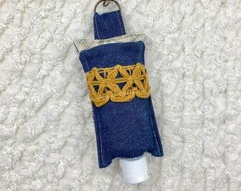 Hand Sanitizer Holder, Lotion Holder, Hand Sanitizer Gift, Sanitizer Clip, Hostess Gift, Sanitizer Holder, Oil Accessories, Denim Holder
