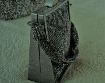SALE Silver Lame Vintage Evening Handbag Splendid within