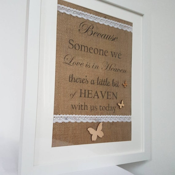 Rustic Chic Sign Plaque This Candle Burns In Memory. Heaven Memorial Loved Ones
