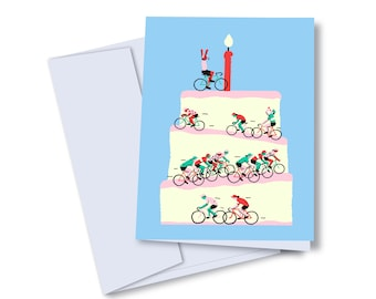 Greeting card / happy birthday  bicycles / Birthday greeting card