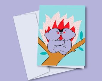 Greeting card Koalas