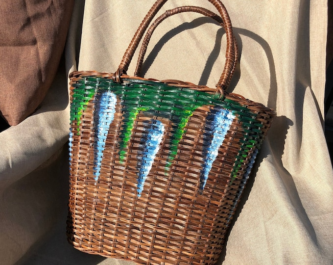 Tawitawi Hand Painted Basket Tote