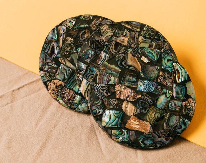 Tanusa Abalone Coasters