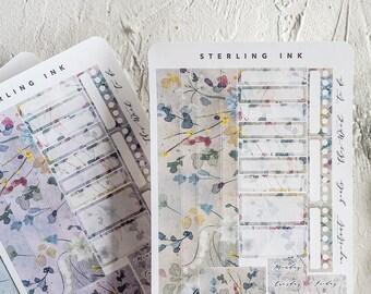 Hobonichi Cousin Weekly Kit: April Shower Floral Design