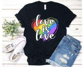 9b3e36320 Love is Love Shirt, LGBT shirt, Gay pride shirt, Pride shirt, Lesbian shirt,  LGBT pride Shirt, Equality shirt, LGBT Tank Top