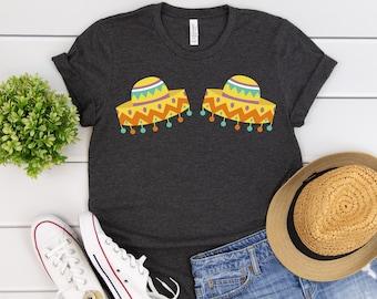6300a092 Cinco De Mayo Shirt Sombrero Boobs Shirt Funny Cinco De Mayo Womens  Boobshirt Party Gift Fiesta Shirt Short-Sleeve Unisex T-Shirt