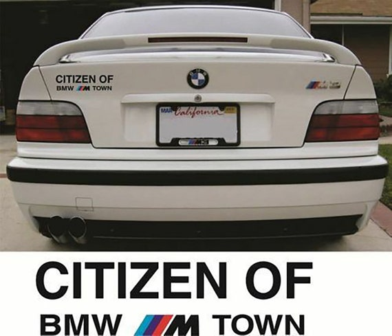 BMW sticker Citizen Of BMW M Town sticker E24 E36 E30 E46 E60 Mpower Motorsport
