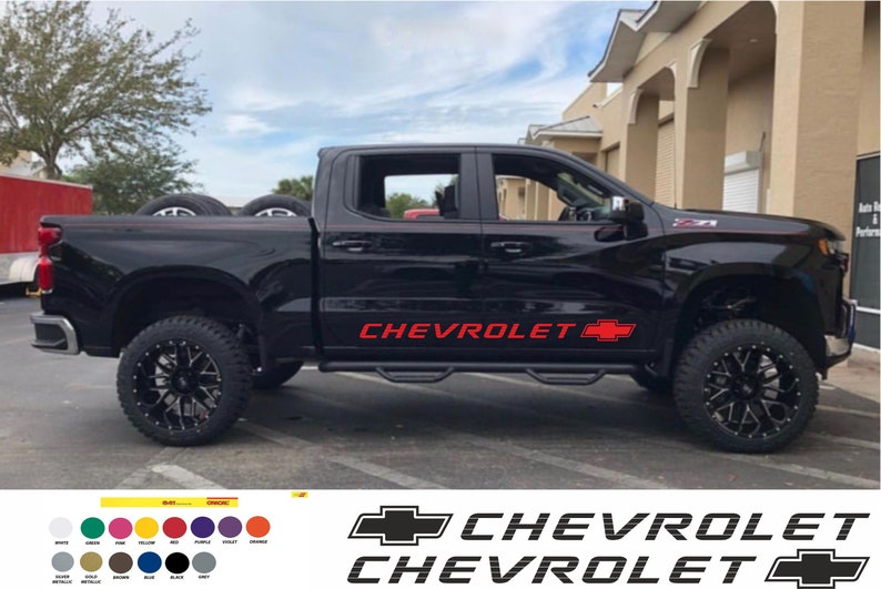 Chevrolet side sticker left and right silverado 400ss 1500 454SS D-max Decals