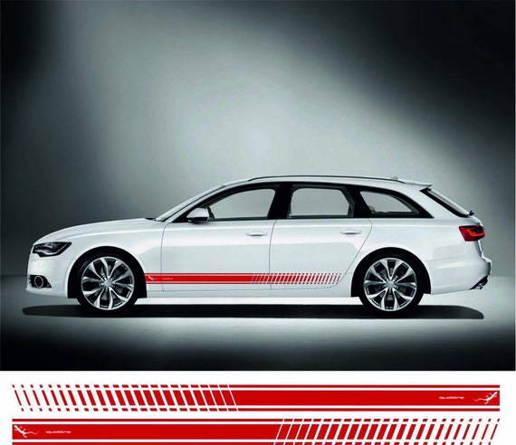 Audi Quattro Stripe Door Aufkleber Sticker Rs S Line S3 S4 S5 S6 S7 S8 Tt